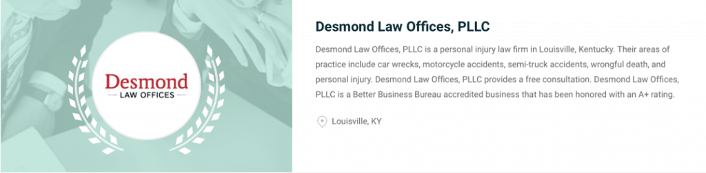 Desmond Law Offices ranks among top car accident attorneys